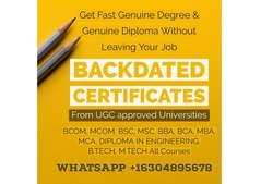 Backdated B.tech with Attestation, WhatsApp+16304895678