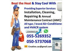 central air con duct repair fix service maintenance al ain gas compressor change