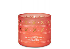 Bath and Body Works White Barn Frosted Sugar Cookie 3-Wick Scented Candle 411g