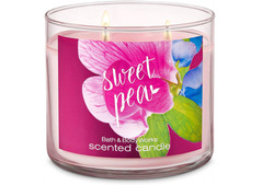 Bath and Body Works Sweet Pea 3-Wick Scented Candle 411g