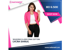 Seasons Classy Pink Cotton Lycra Shrug at Best Price in Middle East