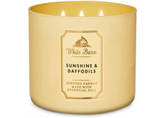 Bath and Body Works White Barn Sunshine Daffodils 3-Wick Scented Candle 411g