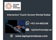 Why to Choose Interactive Touch Screen Rental in Dubai?