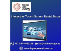 How to Make Business with Interactive Touch Screen Rental Dubai?