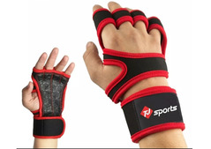 Weight lifting gym gloves wrist wrap