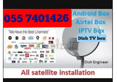5 K Airtel HD Dish tv iptv box android 4K 0557401426