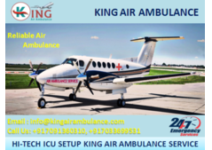 Take King Air Ambulance Services in Silchar with Medical Support