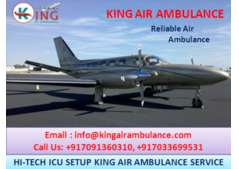 Comfortable and Reliable Air Ambulance in Gorakhpur by King Ambulance