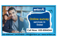 Performing Online Survey Service in Dubai(www.writers.ae)(call:055-9564344)