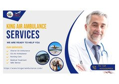 Take the King Air Ambulance Service in Jamshedpur with Medication Facility
