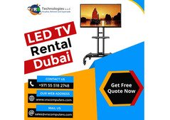 LED TV Rentals with Stands for Events Across the UAE
