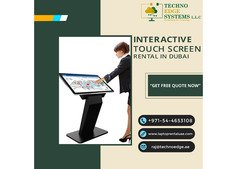 Touch Screen Rental Dubai At Affordable Prices In Dubai