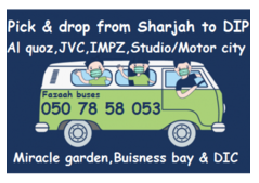 Pick and drop from SHARJAH to DIP, AL QUOZ, IMPZ, JVC,STUDIO CITY, EXPO 2020 CAR LIFT  050 78 58 05